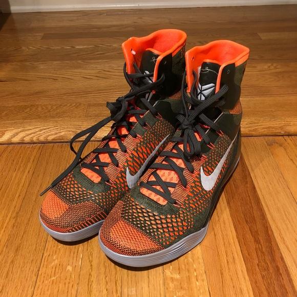new concept df7a7 36f4d Nike Kobe IX 9 Elite High strategy Sequoia NWT